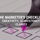 marketing checklist with highlighter